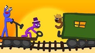 Zombey und maudado entkommen von einem Zug. (Escapists #2)