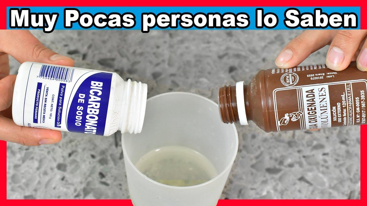 Mira lo que Ocurrirá si Mezclas Agua Oxigenada con Bicarbonato ¡Te va a Encantar!