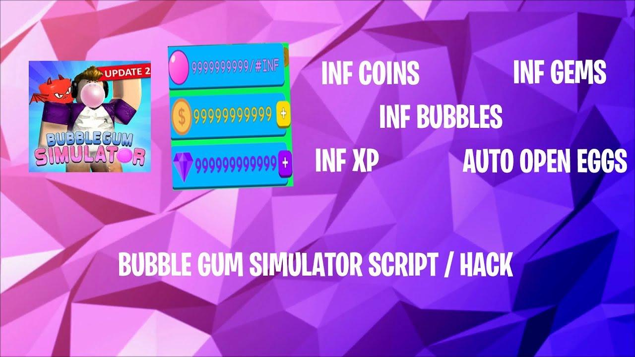 Bubble Gum Simulator Hack Script Inf Coins Inf Gems Inf Xp