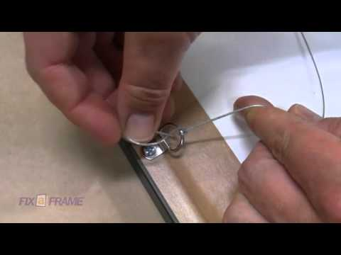 How to tie picture frame wire Brisbane Picture Framer expla - YouTube