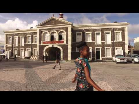 DJI OSMO 4K - Walking around St Kitts Carribean Island  Dec 2015