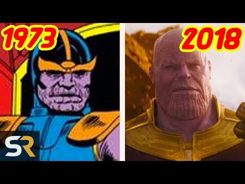 Thanos - Then vs Now: The Evolution Of The Mad Titan