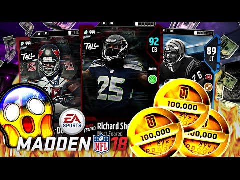 HUGE MOST FEARED LINEUP UPDATE! NEW RICHARD SHERMAN! | MADDEN 18 ULTIMATE TEAM