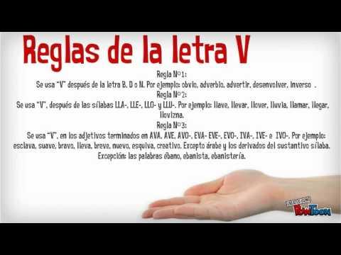 Uso de la v y la b youtube for La b b