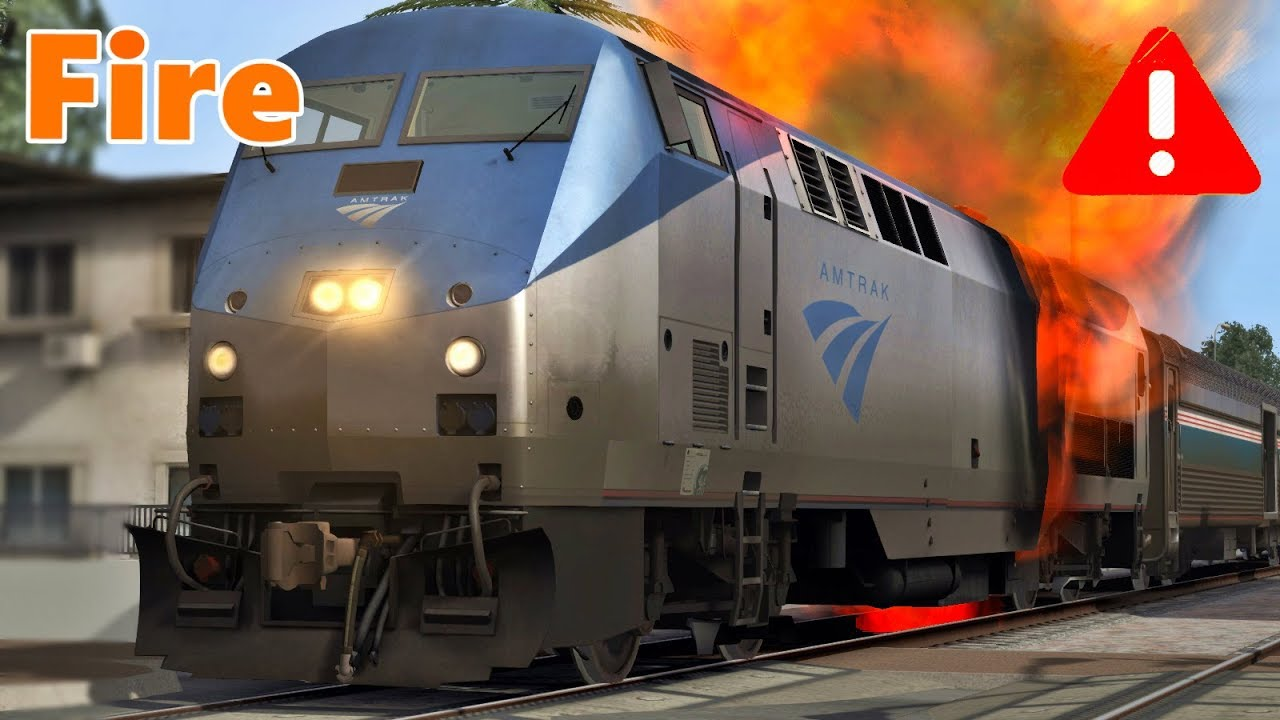 amtrak train on fire youtube