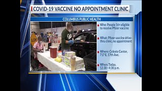 No appointment needed Wednesday at Columbus mass vaccine clinic