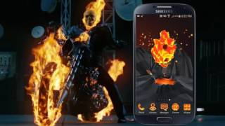 Flaming Skull 3D Android Theme