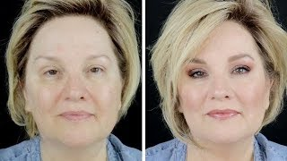 Over 50 MAKEOVER MONDAY / Trying Anastasia Luminous Foundation ! / Over 50 Beauty Tips