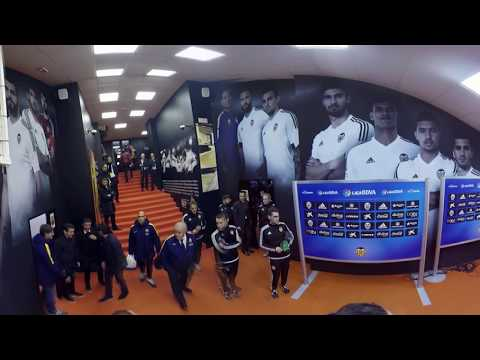 360 INTERACTIVE TUNNEL CAM| VALENCIA CF vs FC BARCELONA | MESTALLA TUNNEL #VIDEO360