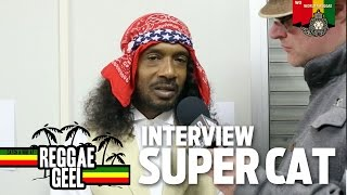 Interview Super Cat at Reggae Geel 2015
