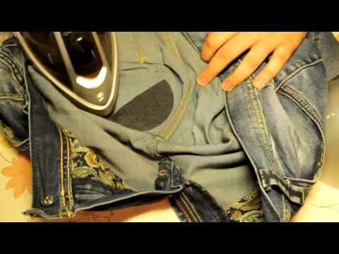 Как быстро восстановить протертые между ног джинсы
