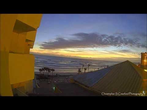 Ocean Breeze Hotel Moon rising and Sunrise over the Atlantic Ocean