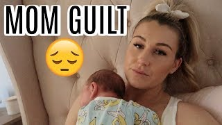 HAVING MOM GUILT | DAY IN THE LIFE WITH A NEWBORN | Tara Henderson