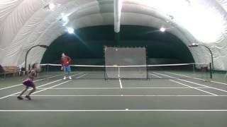 Сосина Софья 7 лет - индивидуальная тренировка по теннису 12.02.2016