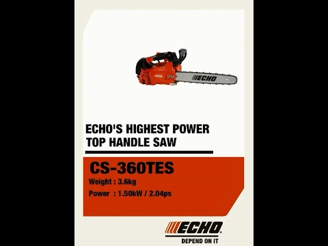 ECHO's highest power top handle chainsaw - 360° view