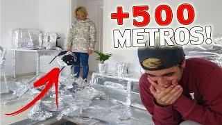 LA BROMA DE LOS 500 METROS DE PAPEL DE ALUMINIO A MI NOVIA! (TERMINA LLORANDO)