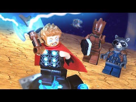 Avengers Infinity War Thor's New Hammer scene Lego Stop Motion