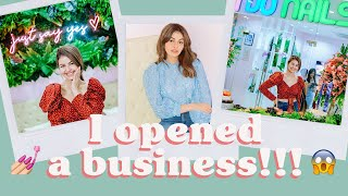 I OPENED MY FIRST BUSINESS!!! Who wants a manicure??  | Janine Gutierrez