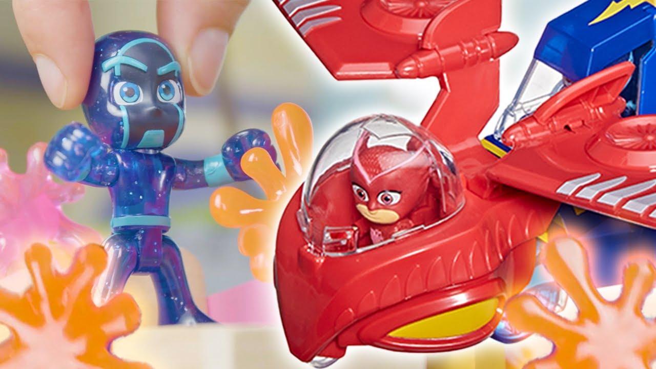 PJ Masks Creations 🧡 Night Ninja Splat Attack 🌟 NEW HERO ID 🌟 Play with PJ Masks | PJ Masks Official