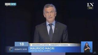 Final del debate: Minuto de cierre de cada candidato - Debate Presidencial Argentina 2019