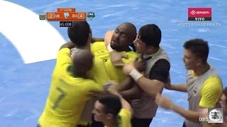 Argentina vs Brasil (2-4) Final Copa América Futsal 2017 - todos los goles resumen