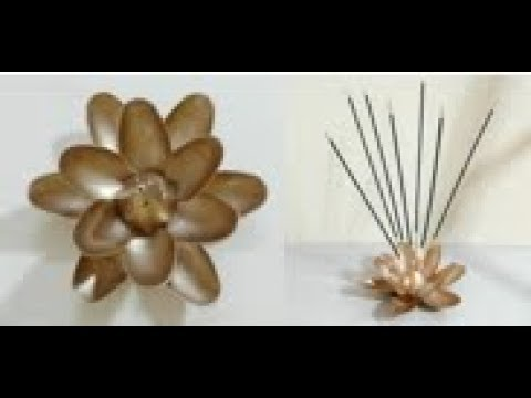 Best Out of Waste, DIY Clay Incense Holder, How to make a Lotus Incense Holder, Shilpkar Clay Art