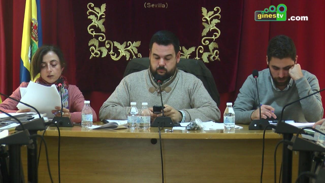 Pleno Ordinario del Ayuntamiento de Gines - 28 de noviembre de 2018