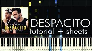 Luis Fonsi - Despacito ft. Daddy Yankee - Piano Tutorial + Sheets