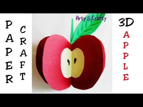 apple craft ideas 3d apple 3d paper craft craft for easy craft for 1055