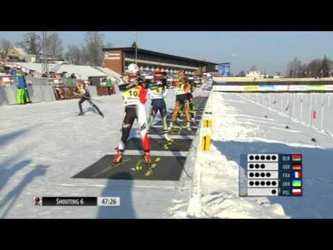 Биатлон ЧЕ 2015 Золото женской сборной Украины в эстафете  эст