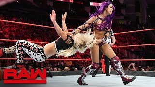 Sasha Banks, Ember Moon & Alexa Bliss vs. The Riott Squad: Raw, June 4, 2018