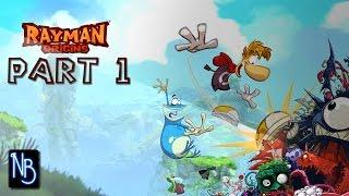 Rayman Origins Walkthrough Part 1 (No Commentary) - Jibberish Jungle