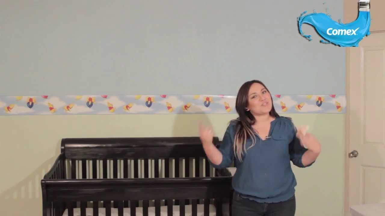 Decora facil y rapido el cuarto de tu bebe con comex youtube for Decoracion del hogar facil y economico