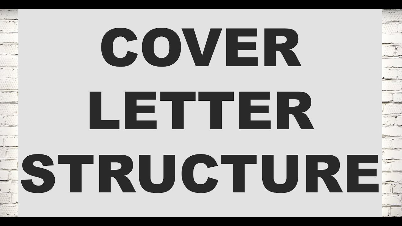 How should you structure a cover letter (Legal Cover Letters) - YouTube