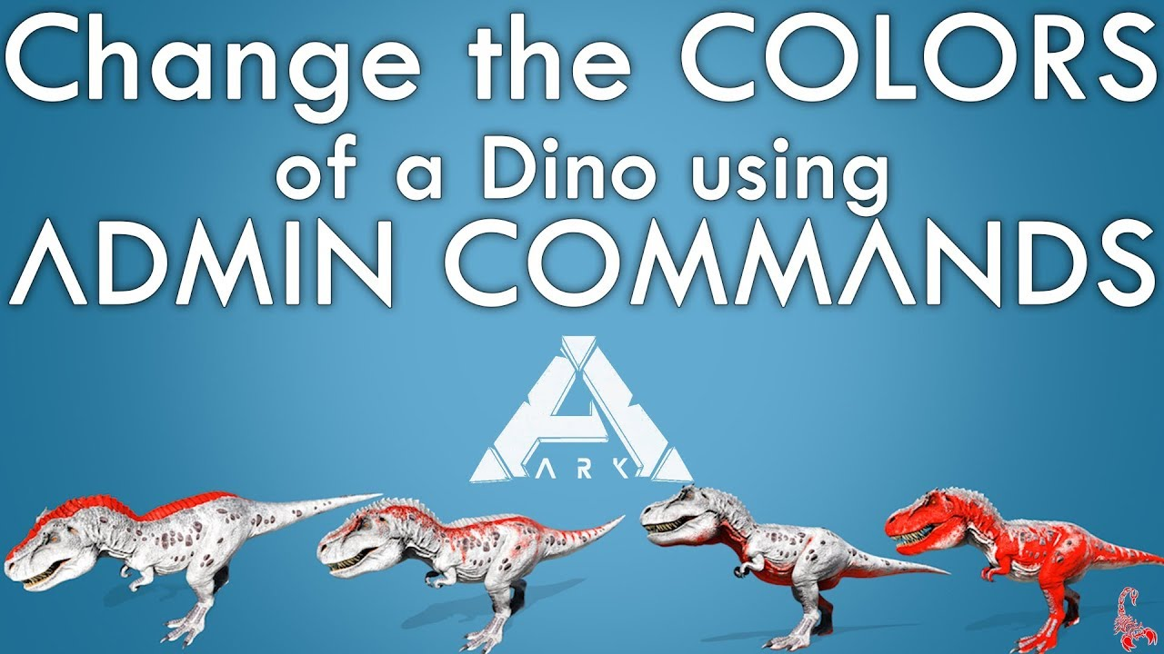 How to paint a Dino with Admin Commands | Color IDs