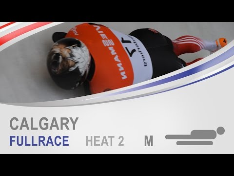 Calgary | Men's Skeleton Heat 2 World Cup Tour 2014/2015 | FIBT Official