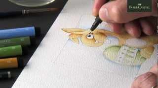 Markers watercolor   Aquarelle avec feutres   Aguarela com marcadores