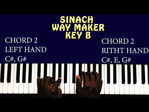 Sinach Way Maker Piano Chords For Beginners Key B Simplified And