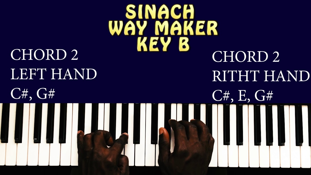 Sinach Way Maker Piano Chords For Beginners Key B Simplified And Detailed