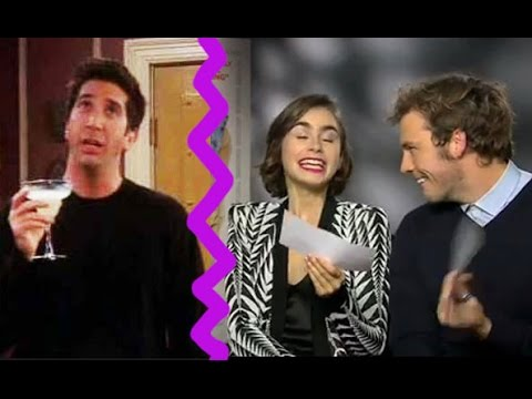 Lily Collins and Sam Claflin recreate Ross Geller's famous 'L-O-V-E' speech from Friends