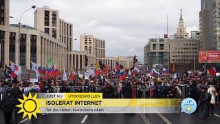 Stort motstånd mot Putins planer på att isolera internet - Nyhetsmorgon (TV4)