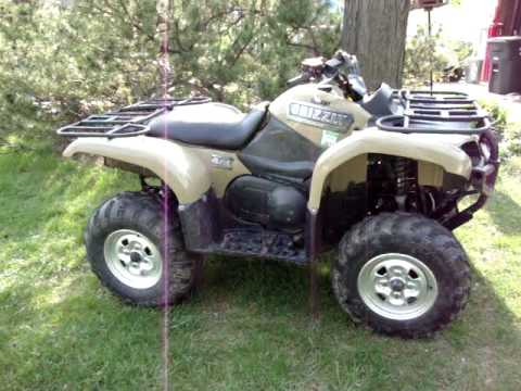 Yamaha grizzly 660 4x4 start up youtube for Yamaha grizzly 4x4