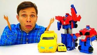 Десептиконы уменьшили руки Фёдору. Видео игрушки Трансформеры.