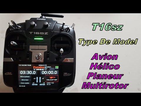 "Futaba T16sz -  "" Type De Model "" Avion - Helico - Planeur - Multirotor - En Francais"
