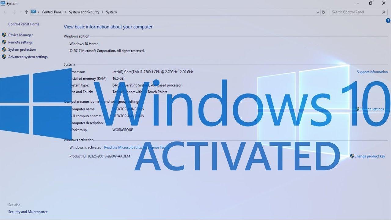 Activation Windows 10 Pro Product Key Free Latest 2019 ...
