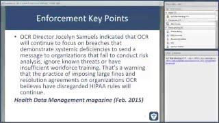 Enforcement, Business Associates and Breach Notification Webinar