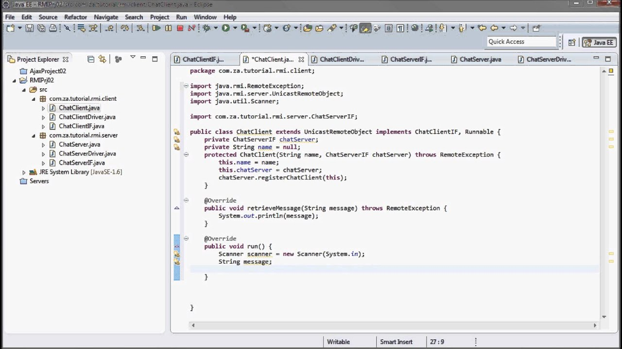 Eclipse java tutorial gallery any tutorial examples rmi java tutorial image collections any tutorial examples java rmi 02 chat application tutorial youtube java baditri Image collections
