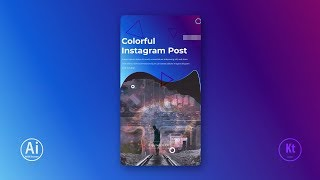 Instagram Story Design #4 - Instagram Ad - Adobe Illustrator CC Tutorial