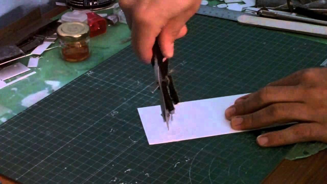 Tutorial - Cortar circulos en poliestireno (evergreen, plasticard ) #1