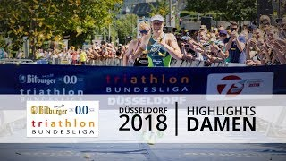 1. Bitburger 0,0% Triathlon-Bundesliga - Düsseldorf 2018 - Highlights Frauen